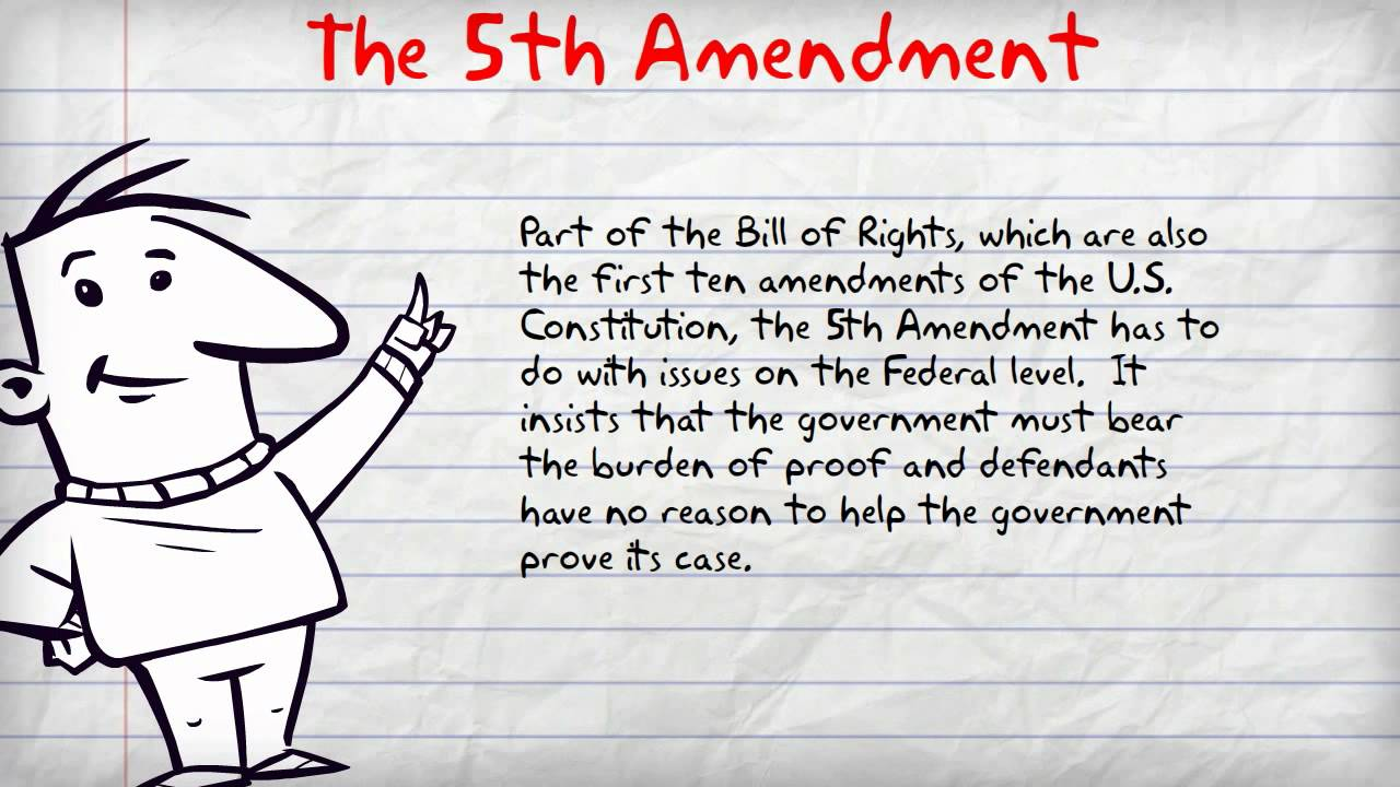 essay on the 5th amendment The 18th amendment is one of the most popular assignments among students the fifth amendment states that: let us find you essays on topic 18th amendment for free.