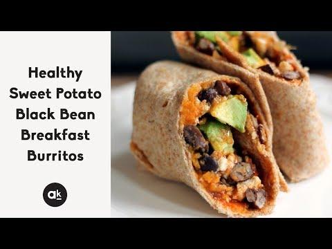 Sweet Potato Black Bean Breakfast Burritos