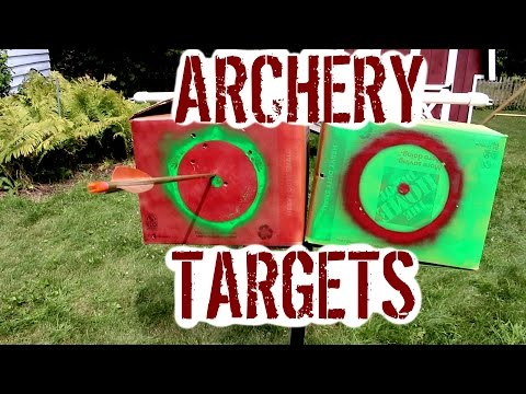 EASY, CHEAP, ARCHERY TARGETS (And Subscriber Bow Test!)