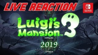 Luigi's Mansion 3 Reveal Live Reaction!!!