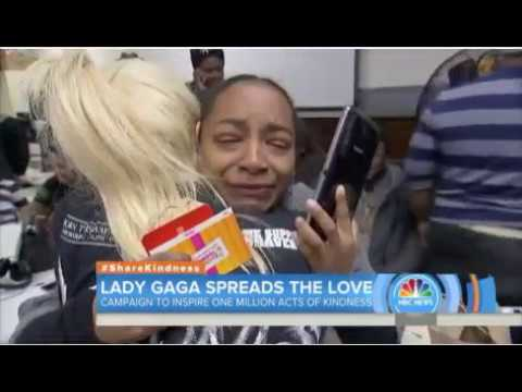Lady Gaga SPREADS THE LOVE! Campaign to inspire one acts of kindness