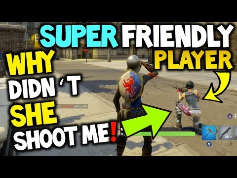 Super Friendly Player On SOLO Fortnite Battle Royale! - Why Didn't She Shoot Me On SOLO?