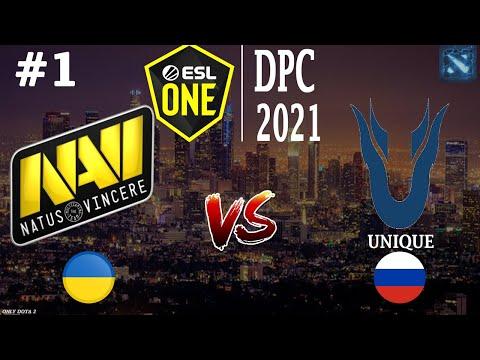 Na`Vi Vs Unique #1 (BO3) ESL One DPC 2021
