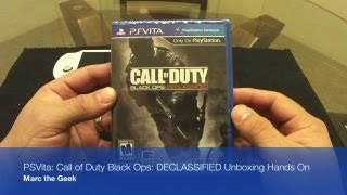 PSVita - Call Of Duty Black Ops DECLASSIFIED Unboxing Hands On