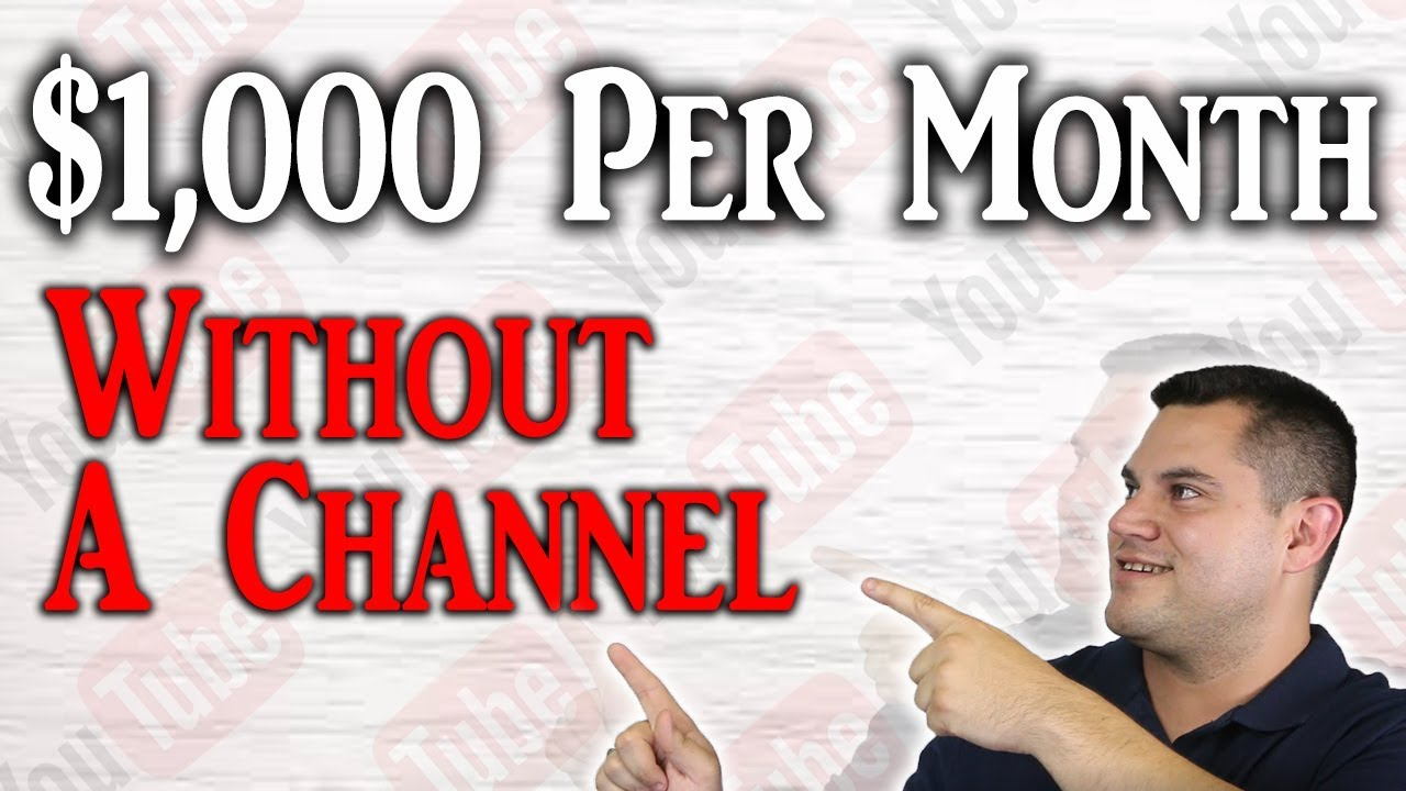 Make Money On YouTube Without A Channel (CRAZY Easy)