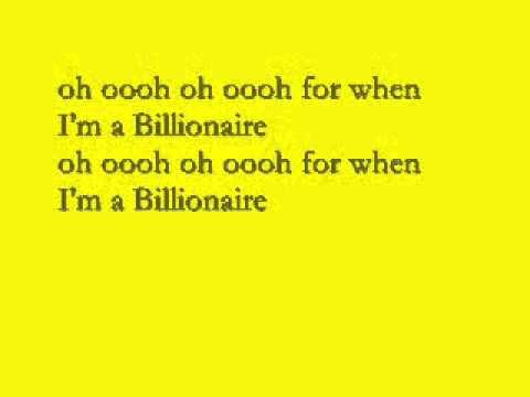 Billionaire Lyrics  Travis Mccoy ftBruno Mars