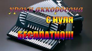 Гимн России на аккордеоне как играть урок#6