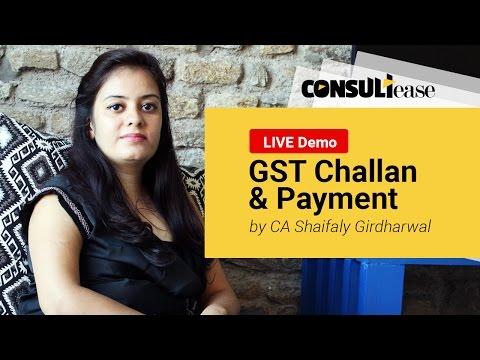GST Challan Creation & Payment of Tax LIVE Demo via GST Portal (in Hindi) by CA Shaifaly Girdharwal
