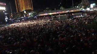 O início do massacre de Las Vegas captado por vídeo amador