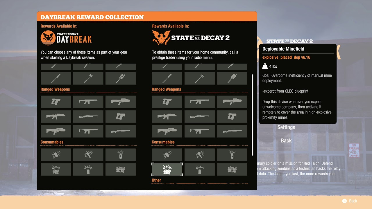 State of Decay 2 Day Break - All unlockable