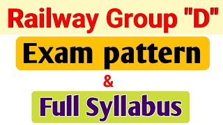 Railway group D exam pattern and full syllabus in Hindi   railway group d exam date  