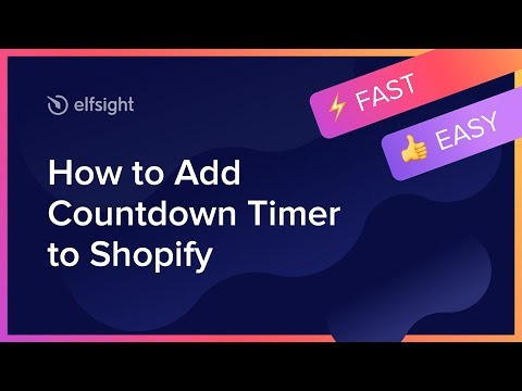 How To Add Countdown Timer To Shopify (2020)