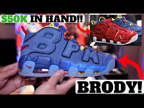 BRODY'S DOERNBECHER NIKE AIR MORE UPTEMPO! I HELD THE $50,000 DB SHOES IN HAND!