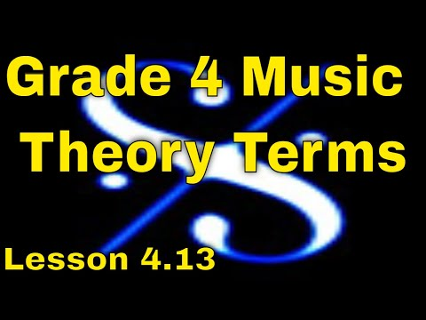 -🎼Grade 4 Music Theory - Musical Terms ( Italian and French) -  Lesson 4.13