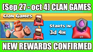 Upcoming 27 Sept To 3 Oct I SPECIAL Clan Games Rewards Information I Clash Of Clans 2018