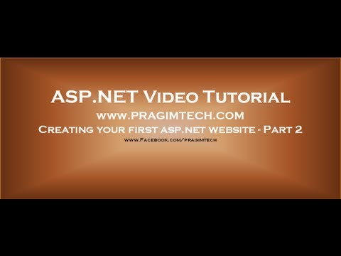 Creating ASP.NET website   Part 2