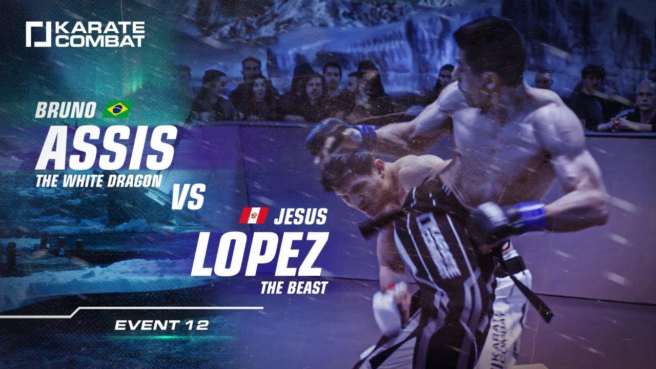 FULL FIGHT: BRUNO ASSIS vs JESUS LOPEZ - Karate Combat S02E12