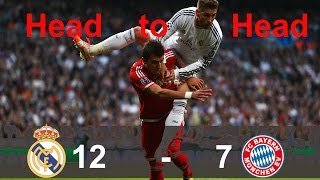 Real madrid leads 12-7 bayern munich on head to goals 2000-2014 ====================================================== subscribe me : https://www.youtub...