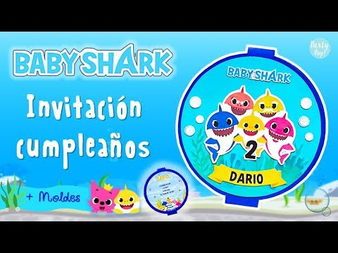 Baby Shark Invitacion Con Moldes Para Tu Fiesta Partypop Diy