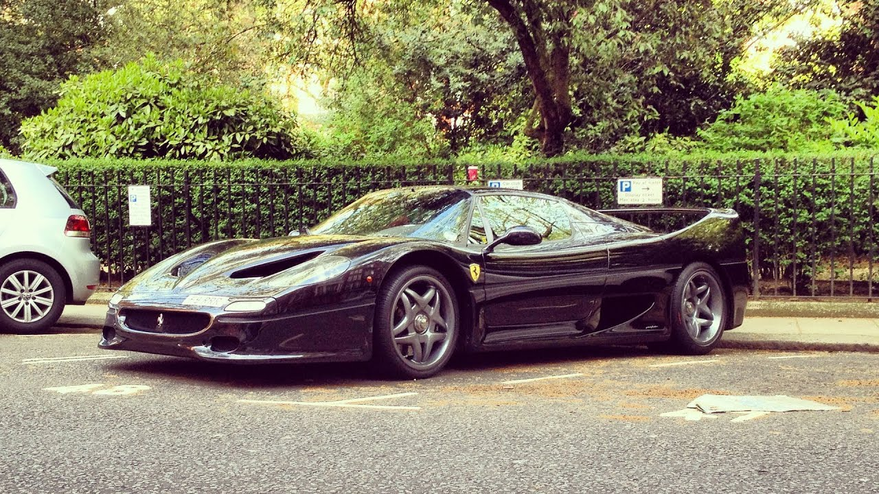 Black ferrari f50 in london youtube vanachro Image collections