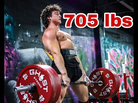 THE FASTEST IVE DEADLIFTED 705 | DEADLIFT DAY WITH WHEEZE | PWRBLD KOP | TEEN POWERLIFTER |