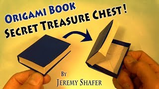 How to Fold an Origami Book / Secret Treasure Chest / Jewelry Box