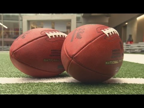 What are the advantages of a deflated football?