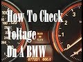 How To Check Voltage On A BMW