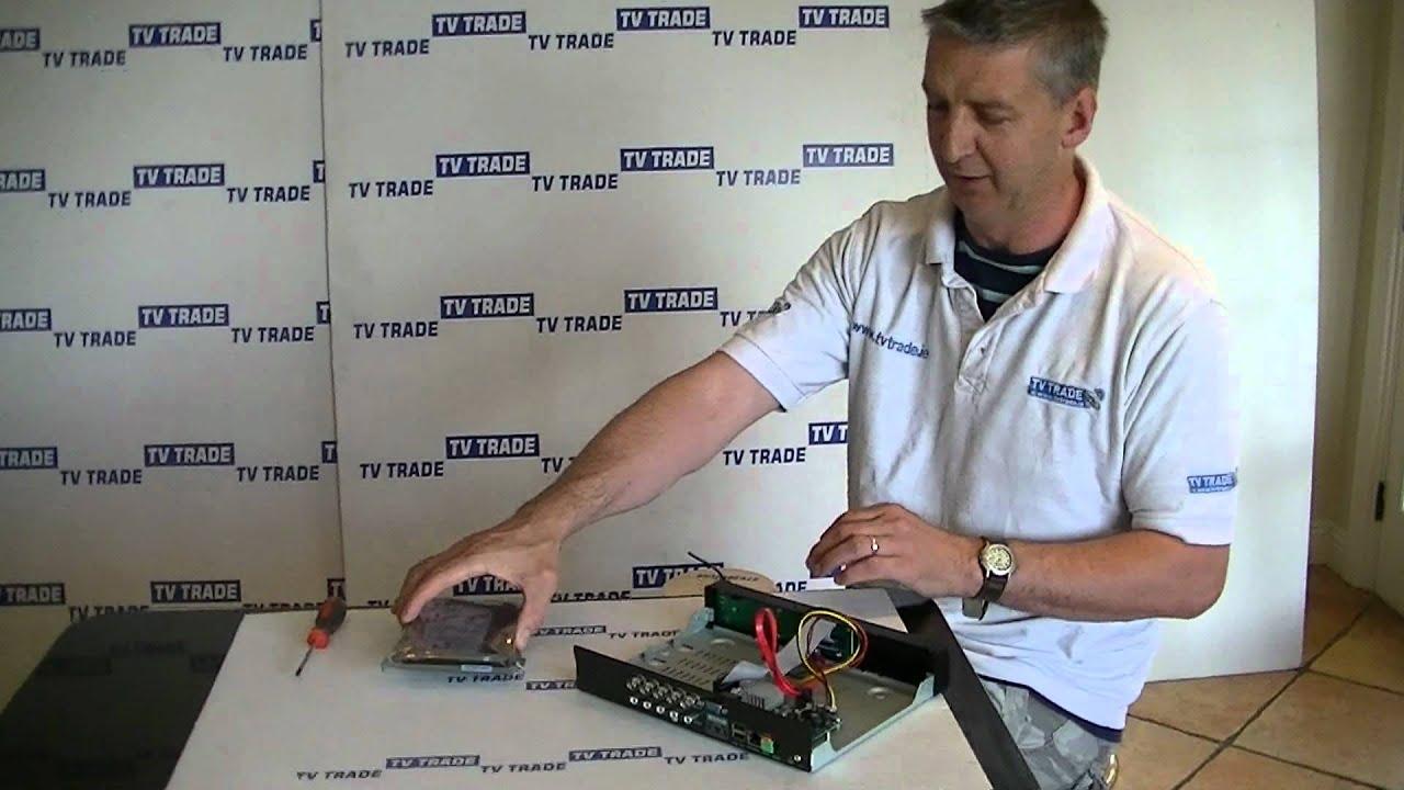 How To Install A 35 Sata Hard Drive Into Cctv Dvr Youtube Cat 5e 6 Surveillance Wiring Diagram Premium
