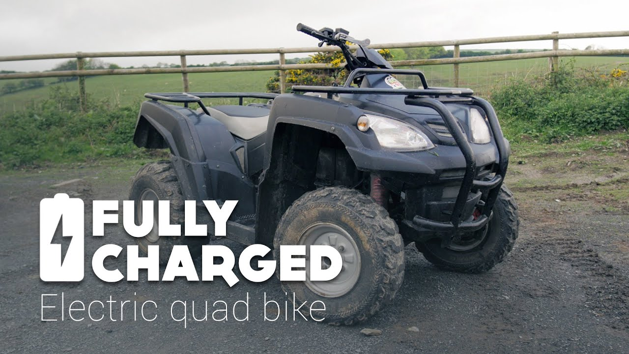 electric quad bike fully charged youtube. Black Bedroom Furniture Sets. Home Design Ideas