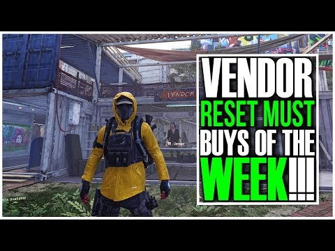 The Division 2 - VENDOR RESET | GOOD WEAPONS, GEAR & MODS