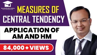 #13 | Measures of central tendency | Application of AM and HM