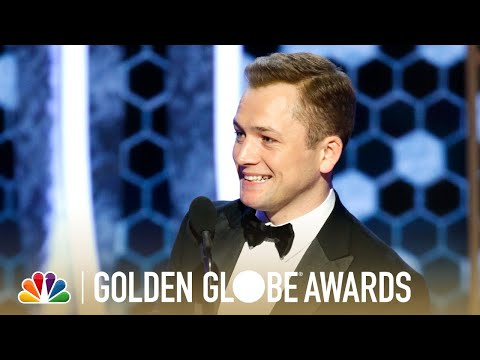 Taron Egerton Wins Best Actor, Musical or Comedy - 2020 Golden Globes