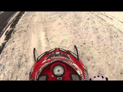 ANGRY FARMER CHASES SNOWMOBILERS!!