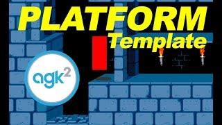 App Game Kit: Platform template AGK2 - Game Pack 1 DLC - metroidvania starter pack