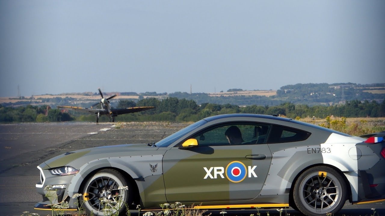 Raf Eagle Squadron Ford Mustang Gt And City Of Exeter Spitfire Tuesday 10th July 2018
