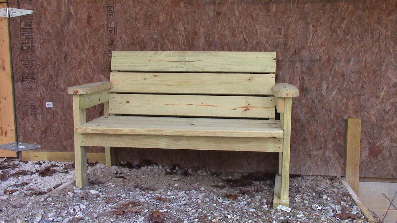 Easy Homemade Garden Bench  YouTube