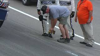 Relive Officials draining water from under Kansas Speedway in spring 2018 thumbnail