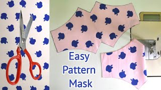 New Design Very Beautiful Face Mask Easy Pattern Mask Face Mask Sewing Tutorial Mascarilla
