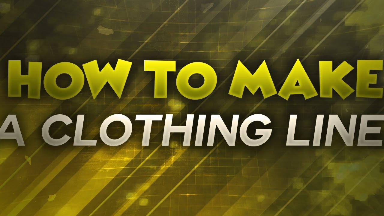 how to create your own clothing line