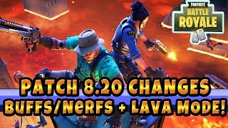 New Patch Changes to Fortnite in 8.20 + New Floor Is Lava LTM (No more 50 Heal in Pubs)