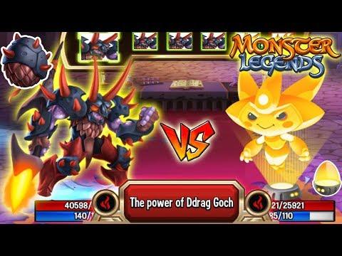 🔴Monster Legends: DRAKOR level 130 vs Neobuki 130 combat PVP Neocity Grand Prix