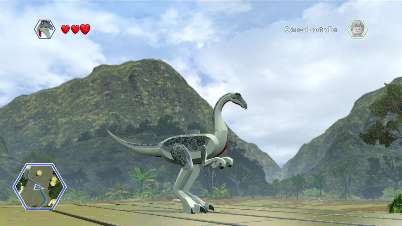 LEGO Jurassic World Troodon Free Roam Gameplay HD