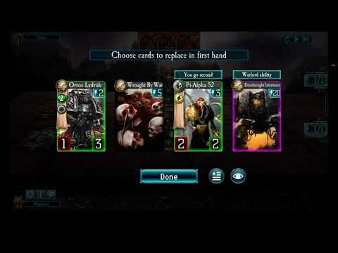 Let's Play Horus Heresy Legions: Ulrach Branthan Deck And 3 Battles At 4000 Rank On Terra
