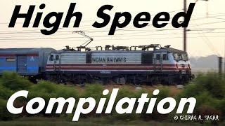 COMPILATION of HIGH SPEED trains of Western Railways [Indian Rail] !