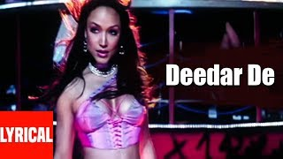 Lyrical Video: Deedar De | Dus | Sunidhi Chauhan | Sanjay Dutt, Abhishek Bachan, Shilpa Shetty