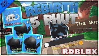 Roblox | Was passiert, wenn Sie drei Shadow Dominus-Caps verwenden? Wiedergeburt in 5 Minuten | Bergbau Simulator-H3G