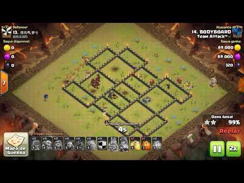 Team Attack vs Chinas (WAR Recap - Th9 Attacks) Clash of Clans
