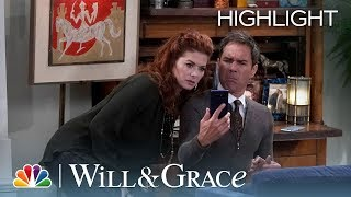 Grace Helps Will Break Into His Department Head's Phone - Will & Grace (Episode Highlight)