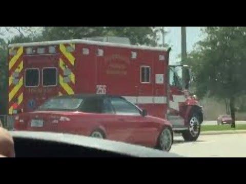 Palm Beach County Fire Rescue Rescue 256 Responding